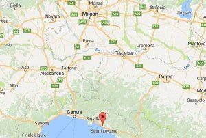 trainingskamp organiseren plannen regelen voetbalteam italie ligurische kust kaart